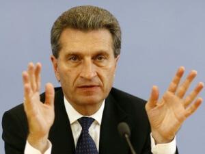 Oettinger will EU-Regelung für Ökostrom (ddp)