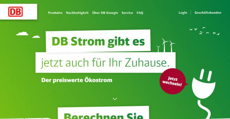 Screenshot www.dbenergie.de