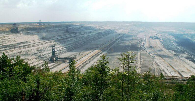 Protestaktion gegen Kohleabbau im Hambacher Forst